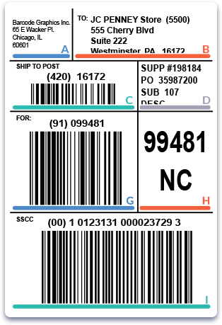 Order Printed Barcodes Online - GS1-128 Shipping Labels