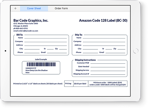 Order Printed Barcodes Online - Amazon Labels